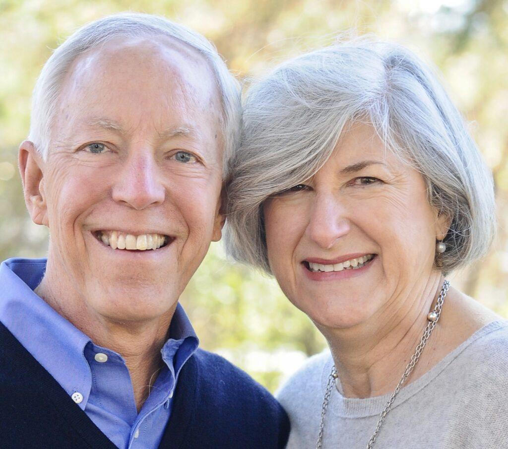 man and woman head shot